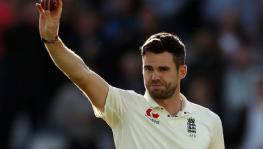 England cricket team fast bowler James Anderson