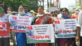 Andhra: Workers Hold Chalo Krishnapatnam Port Protest Demanding Job Security, Labour Rights