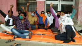 COVID-19: Ambulance Workers Protest in Varanasi over Unpaid Salaries, Termination Notices