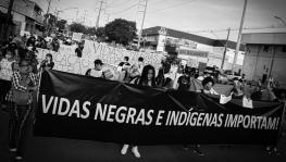 """Black and Indigenous lives matter"". Anti-racist mobilization in Manaus a city in Brazil's amazon that has been hard-hit by the COVID-19 pandemic. Photo: Midia Ninja"