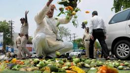 Tamil Nadu Farmers Dump Veggies on Road in Protest Against Price Slump