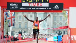 Kipsang, who held the world record between 2013-18, won the London Marathon twice (2012, 2014) and also won bronze at the 2012 London Olympics. (Picture courtesy: London Marathon/Twitter)