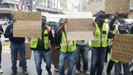 Employees of South African Airport Services Firm Protest Demanding Payment of Salaries
