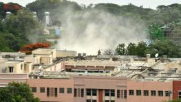 Telangana secretariat building demolished
