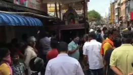 Burnt Tyres in Front of Temples Lead to Tension in Coimbatore