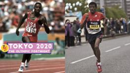 Athletics legends Carl Lewis and Haile Gebrselassie