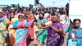 Fishers protest against the national Fisheries Policy in Tamil Nadu