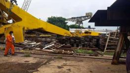 Crane Collapse in Hindustan Shipyard Kills 11 on Spot in Vizag