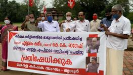 protests at thrissur