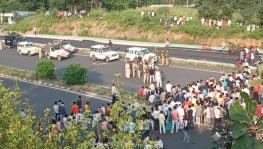 Crackdown by Rajasthan police on REET protest.