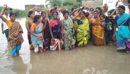 Families Displaced by Andhra's Gandikota Project Continue Protest in Flooded Village