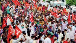 Protest against Farm Bills in Maharashtra.