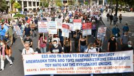 Greek trade unionists, peace activists protest visit of NATO Secretary General
