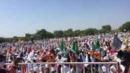 Farmers in thousands gathered at the Dussehra Ground in Sirsa and staged a dharna on October 6. Courtesy - Facebook