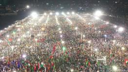 Opposition rally against Imran Khan in Karachi, Pakistan.