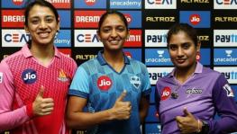 Smriti Mandhana, Harmanpreet Kaur and Mithali Raj, the skippers of the three teams in the IPL Women's T20 Challenge