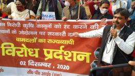 Left Parties Protest in Support of Delhi's Farmers