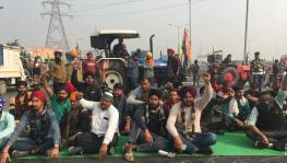 Farmers stage a 'full' blockade at the Ghazipur border for nine hours. Image clicked by Ronak Chhabra