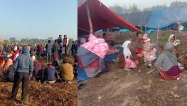 The peole of Laika-Dodhia villages set up camps near the office of Tinsukia DC
