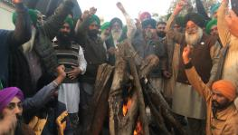 Lohri Celebration by members of Bharatiya Kisan Union (Kadian) at Tikri Border. Image clicked by Ronak Chhabra