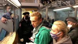 Russian opposition activist Alexei Navalny was detained at the airport in Moscow upon arrival from Germany, January 17, 2021