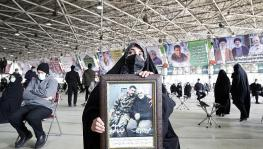 Scene from a ceremony marking the first anniversary of the assassination of General Qassem Soleimani, Tehran, Dec 31, 2020