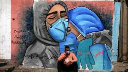 A mural in the Nusseirat refugee camp in central Gaza Strip, November 16, 2020. Photo : China Global Television Network (CGTN)