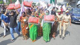Women Storm Raj Bhawan in Chennai on Mahila Kisan Diwas