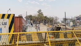 Police barricade at Singhu border