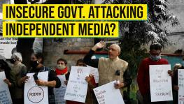 Protest against attack on media