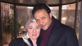 Political activist Ghada Naguib with her husband, actor Hisham Abdullah. Photo: HRW