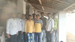 Farmers of Mahuva and Talaja taluka, Bhavnagar whose land has been leased out to Ultra Tech Cement