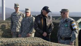 Then-Vice President Joe Biden visits U.S. troops occupying Korea in 2013. Credit — U.S. Army/Sgt. Brian Gibbon