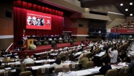 José Ramón Machado Ventura, Second Secretary of the Central Committee of the Communist Party of Cuba, officially inaugurated the 8th Congress. Photo: Ariel Ley Royero