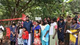 LDF candidate Linto Joseph during election campaign at Thiruvambadi Constituency