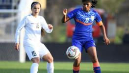 Uzbekistan vs India women's football match