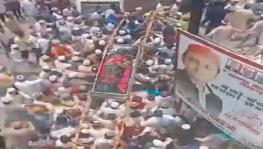 UP: Covid-19 norms flouted as hundreds turn up for Islamic leader's funeral