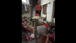 Ransacked CPI(M) party office at Jadavpore