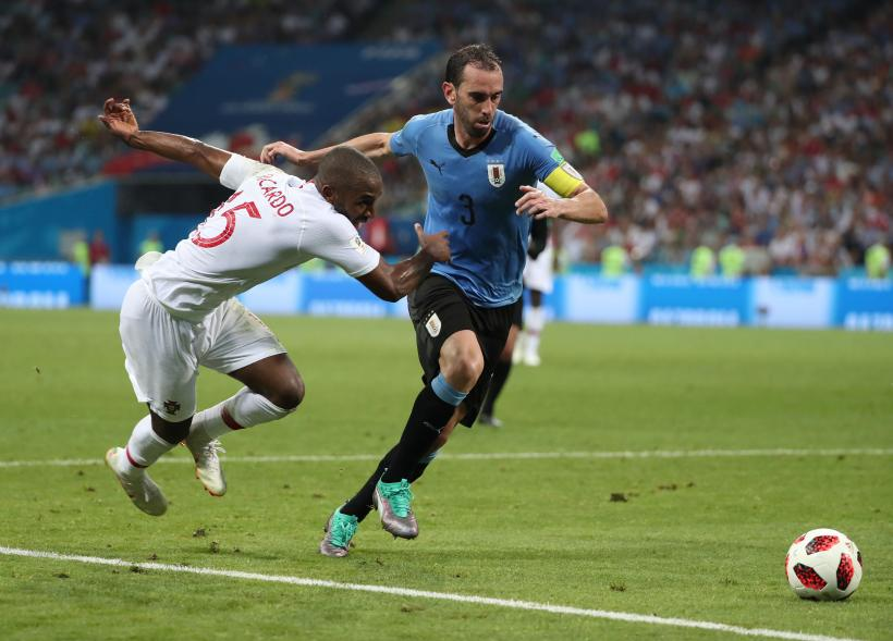 Diego Godin of Uruguay football team at FIFA World Cup.