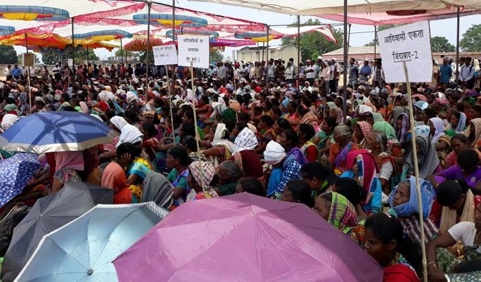 Protesters at Dumri in Gumla district, Jharkhand