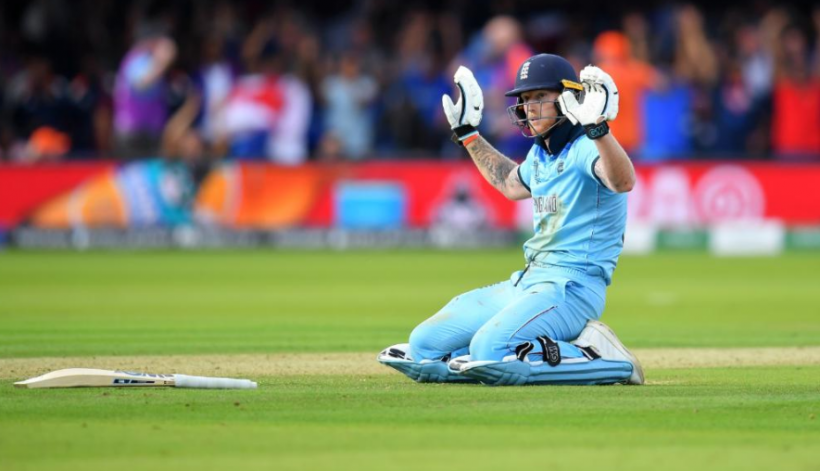 Ben Stokes of England cricket team during the final of the ICC World Cup 2019 against New Zealand at the Lord's