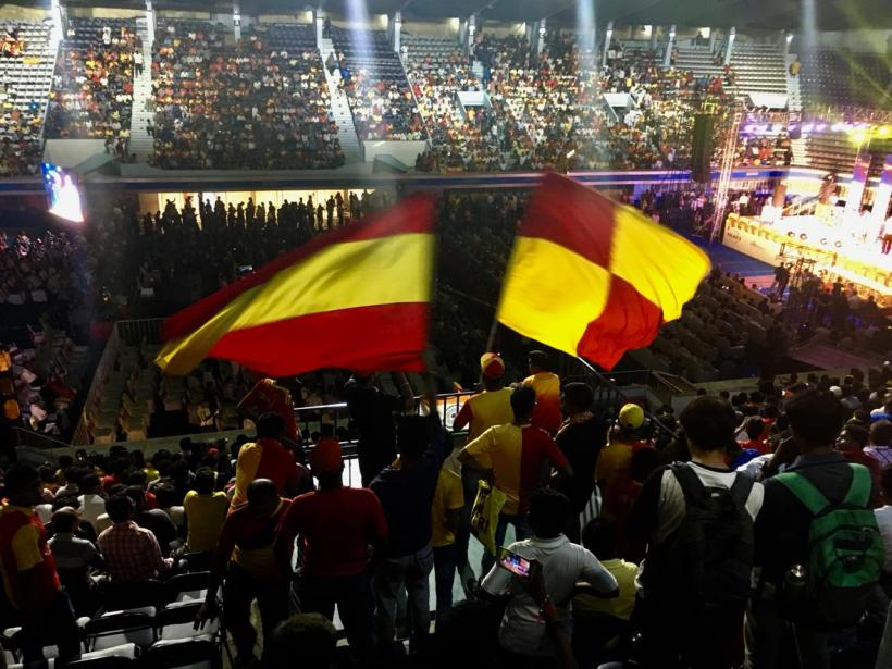 East Bengal fans during the Indian football club's centenary celebrations in Kolkata