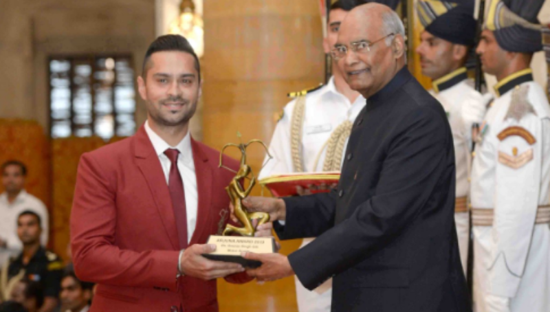 Gaurav Gill receives the Arjuna Award