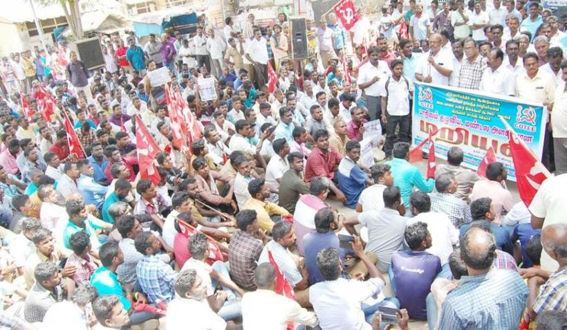 Tamil Nadu Electricity Board Contract Workers Protest