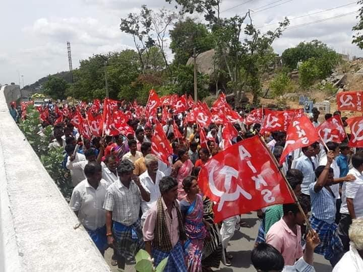 Dalits, Tribals, Farmers Demonstrate, Demand Land Pattas in Krishnagiri