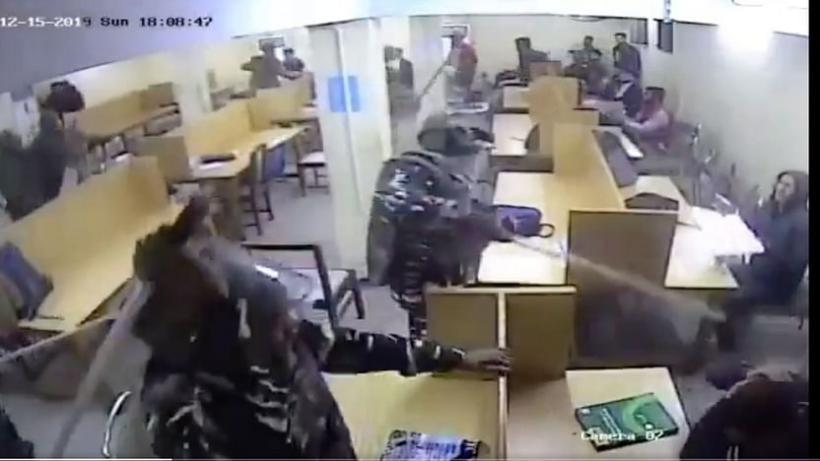 New CCTV Video Shows Police Attack in Jamia Reading Room