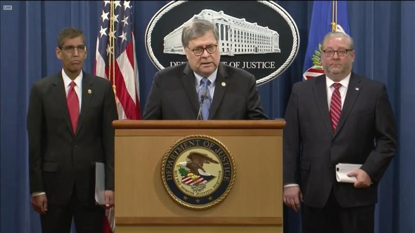 US attorney general William Barr announces the indictment of Nicolas Maduro.