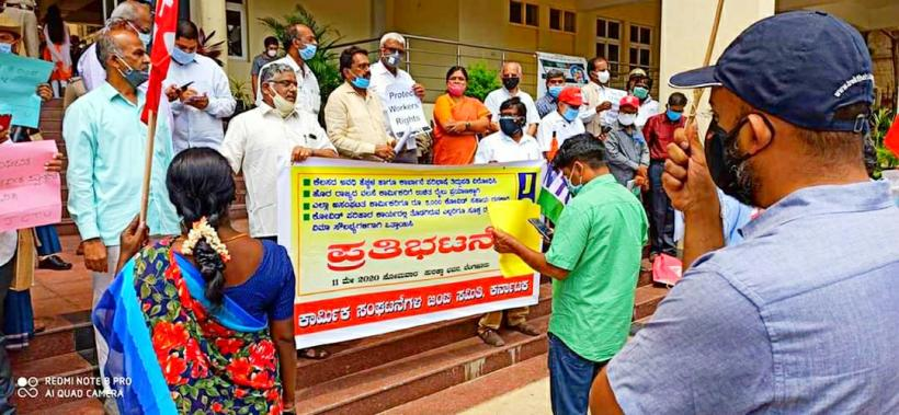 Trade Unions Protest Against Karnataka Govt, Say No to Easing of Labour Laws