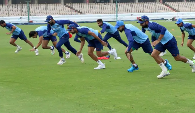 Indian cricket team players training post Covid-19 lockdown