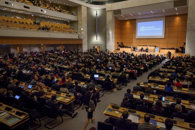 World Health Assembly, decision-making body of WHO, meets in Geneva every May. This year's is a virtual meeting. File photo